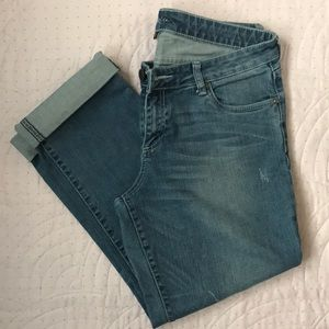 Kut From the Kloth Cropped Distressed Jeans sz12